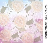 bokeh background with flowers | Shutterstock .eps vector #587776391