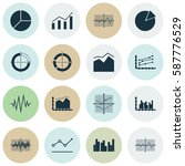 set of graphs  diagrams and... | Shutterstock .eps vector #587776529