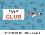 """airplane with banner """"r b club"""" ...   Shutterstock .eps vector #587786315"""