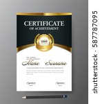 certificate template a4 size...   Shutterstock .eps vector #587787095