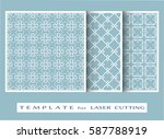 abstract cutout panels set for