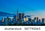 toronto skyline view from... | Shutterstock . vector #587790065