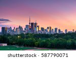 toronto skyline view from... | Shutterstock . vector #587790071