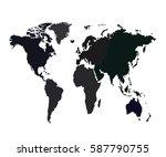 vector map   world | Shutterstock .eps vector #587790755