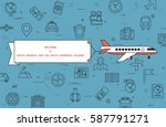 """airplane with banner """"welcome...   Shutterstock .eps vector #587791271"""