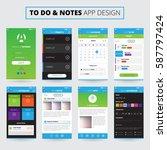 mobile apps design for notes...