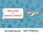 """airplane with banner """"welcome...   Shutterstock .eps vector #587798501"""