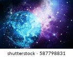 global network internet concept....   Shutterstock . vector #587798831
