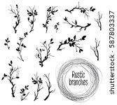 hand drawn vintage vector... | Shutterstock .eps vector #587803337