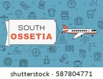 """airplane with banner """"south...   Shutterstock .eps vector #587804771"""