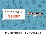 """airplane with banner """"football...   Shutterstock .eps vector #587806535"""