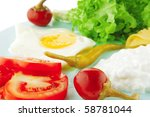 egg and cottage cheese with... | Shutterstock . vector #58781044