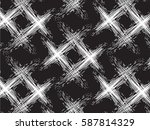 vector scratches bold plaid... | Shutterstock .eps vector #587814329