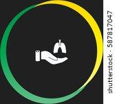 save life vector  icon   Shutterstock .eps vector #587817047
