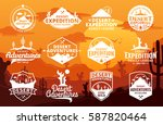 set of vector desert and... | Shutterstock .eps vector #587820464