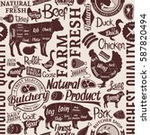 typographic vector butchery... | Shutterstock .eps vector #587820494