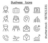 business management icon set in ...   Shutterstock .eps vector #587821331