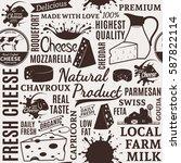 typographic vector cheese...   Shutterstock .eps vector #587822114