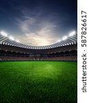 stadium in sunset. with people... | Shutterstock . vector #587826617