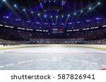 sport hockey stadium 3d render... | Shutterstock . vector #587826941