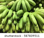 fresh green bananas | Shutterstock . vector #587839511