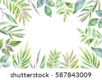 hand drawn watercolor... | Shutterstock . vector #587843009