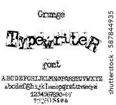 vector old typewriter font.... | Shutterstock .eps vector #587844935