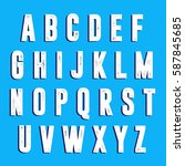 alphabet with shabby texture | Shutterstock .eps vector #587845685