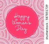 international woman day card... | Shutterstock .eps vector #587851739