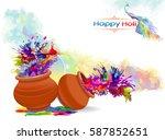 the vibrancy of festival of... | Shutterstock .eps vector #587852651
