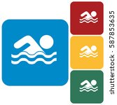 swimming water sport icon....   Shutterstock .eps vector #587853635
