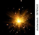 closeup view of burning sparkler | Shutterstock . vector #58785610