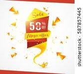magic offer. super sale. best... | Shutterstock .eps vector #587857445