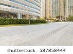 urban lanes and blank billboard | Shutterstock . vector #587858444