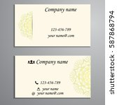 visiting card and business card ... | Shutterstock .eps vector #587868794