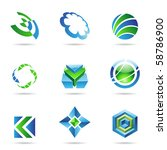 abstract blue and green icon... | Shutterstock .eps vector #58786900