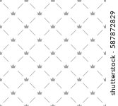 luxury seamless pattern with... | Shutterstock .eps vector #587872829