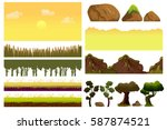 game cartoon elements set with... | Shutterstock .eps vector #587874521