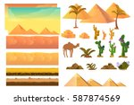 Desert Seamless Background...