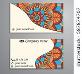 visiting card and business card ... | Shutterstock .eps vector #587874707