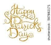 st. patricks day greetings.... | Shutterstock .eps vector #587882171