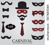 carnival red and black... | Shutterstock .eps vector #587885084