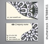 visiting card and business card ... | Shutterstock .eps vector #587888411