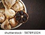 black garlic  | Shutterstock . vector #587891024