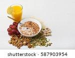 healthy eating. muesli bowl   Shutterstock . vector #587903954