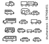car set. types of vehicles.... | Shutterstock .eps vector #587908451