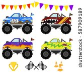 Monster Truck Vector Art Design