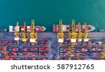 container container ship in... | Shutterstock . vector #587912765