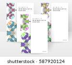 memphis geometric background...   Shutterstock .eps vector #587920124