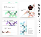 memphis geometric background... | Shutterstock .eps vector #587920151
